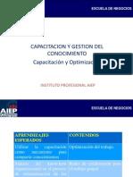 Capacitacion y Gestion Del Conocimiento - Capacitacion y Optimizacion