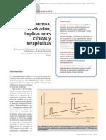 03.026 Trombofilia venosa. Clasificación, implicaciones clínicas y terapéuticas
