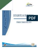 Boletin Estadisticas Turismo Primer Trimestre 2010