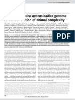 NATURE the A.queenslandica Genome wring the Evolution of Animal Complexity
