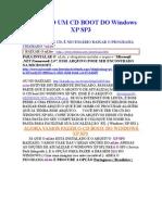 COMO FAZER UM CD BOOT DO WINDOWS XP SP3