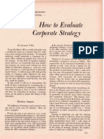 How to Evaluate Corp Strategy