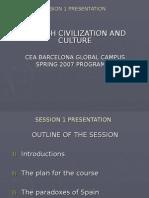 CEA Spanish Civilisation Class 1