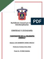 CONTEXTOS DE LA FILOSOFIA GRIEGA LUIS HUMBERTO GÒMEZ