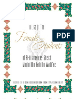 A List of the Female Students of Shaykh Muqbil Rahimahullah