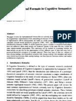 Representational Formats in Cognitive Semantics