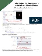 Windows Movie Maker for Beginners Handout