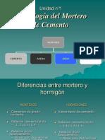 2º clase -TEC DEL HORM II- MORTEROS