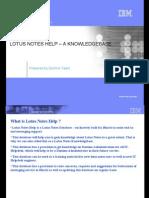 Lotus Notes Help