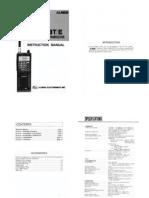 VHF ALM-203TE Manuale Inglese