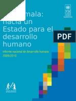 Informe Nacional de Desarrollo Humano 2009-2010, Guatemala