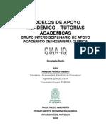 Modelos de Apoyo Académico - Tutorías Académicas