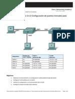 Configuración de puertos troncales y Vlan
