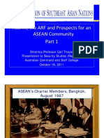 Thayer ASEAN, ARF and ASEAN Community Part 1