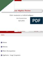 Cs221 Linear Algebra