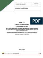 Pliego de Condiciones CA-SIDOR-DIAB-2011-00315