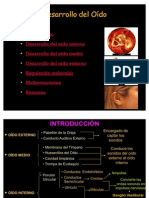 Desarrollo del Oído