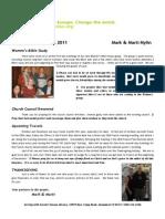 November 2011 Prayer Letter