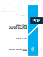 Operational Excellence for the World of Tomorrow