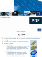 ACTRAN Modules Overview