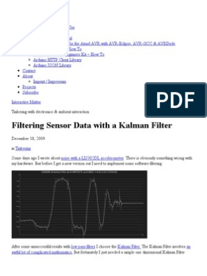Filtering Sensor Data with a Kalman Filter — Interactive