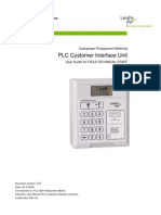 User Manual PLC Customer Interface Unit _Technical Staff