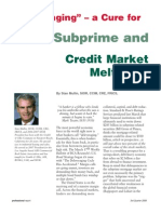 Del Ever Aging a Cure for the Subprime and Credit Market Meltdown