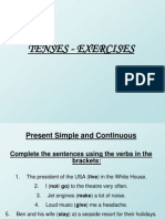 Exercises - Present Simple and Continuous(1)