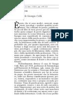 Ricordo di Giorgio Celli - Fausto Curi Poetiche n.1/2011