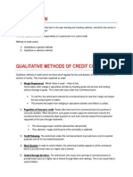 Credit Control Methods