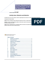Attraction Selection Standard