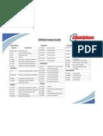 Oilfield Product Sheet