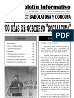 "Boletín Informativo IU Badolatosa - nº 01 - 100 DÍAS DE GOBIERNO ""SOCIALISTA"""