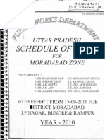 PWD Schedule of Rates Moradabad UP 2010