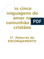 As cinco linguagens do amor na comunhão dos