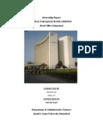 39246294 Internship Report on ZTBL by Mumtaz Ali Hulio