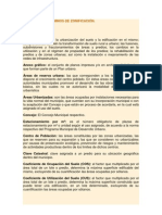 GLOSARIO DE TÉRMINOS DE ZONIFICACIÓN