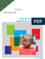 Analyse de la pauvreté des enfants à Madagascar (UNICEF/2011)