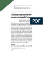 Gunkel (2005) Psychotisches Erleben Und Psychiatrische Be Hand Lungs Bed in Gun Gen [MS]