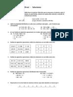 Examen 1ºMat - 20-oct   -   Soluciones