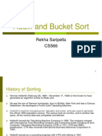Rekha Saripella - Radix and Bucket Sort