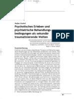 Gunkel (2005) Psychotisches Erleben Und Psychiatrische Be Hand Lungs Bed in Gun Gen