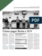 Cómo pagar Renta IGV