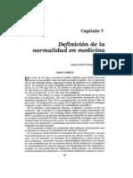 Definicion De La Normalidad En Medicina