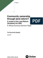 Community Ownership Through Land Reform?