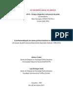 CODATO, Adriano ; COSTA, Luiz Domingos . A profissionalização da classe política brasileira no século XXI