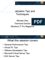 TechX Virtualization Tips
