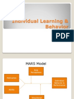 Individual Learning & Behavior