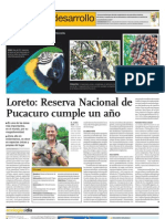 Loreto Reserva Natural de Pucacuro cumple un año