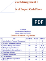 10. Analysis of Project Cash Flows